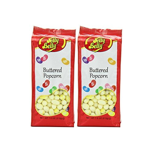 Jelly Belly Gift Bag, Buttered Popcorn (Pack of 2) (Buttered Popcorn Jelly)