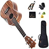 "WINZZ 23"" Concert Star Ukulele Koa Shine Series with Bag, Tuner, Strap, Cleaning Cloth, Picks"