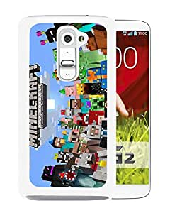 Beautiful Designed Case With Minecraft 5 White For LG G2 Phone Case