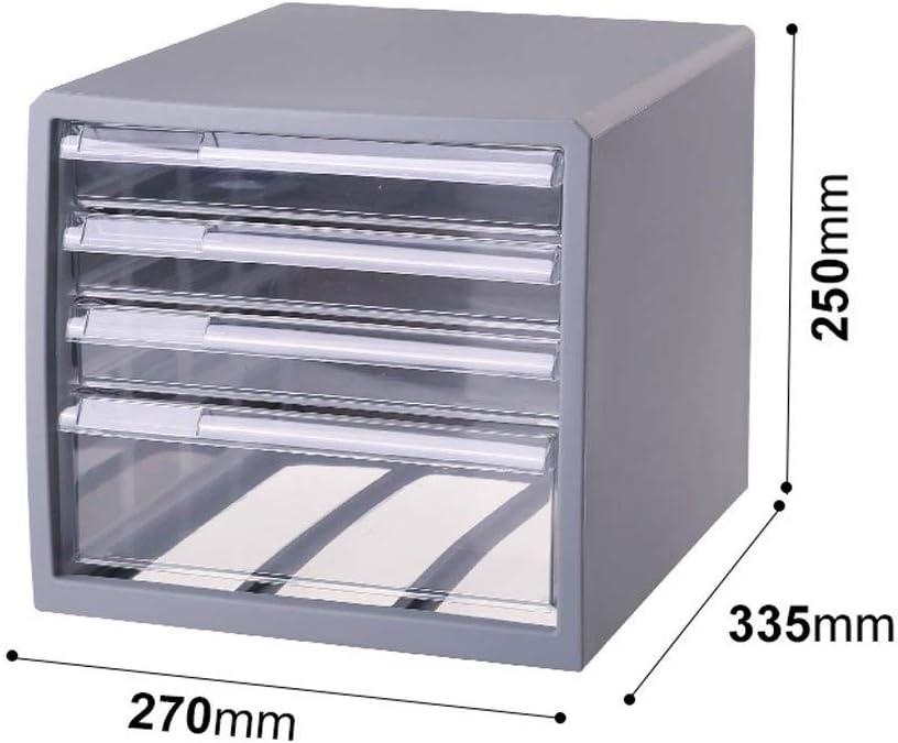 LKJH File Cabinet 4 Layers Office File Drawer Storage Box Desktop Translucent System