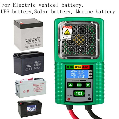 Automotive Battery Tester 6V / 12V Traction,Power Starting Battery Tester, Charge System Test 3 in 1 Digital Battery Analyzer Automotive Battery Load Tester for UPS,Solar Energy,Marine Battery by Mrcartool (Image #5)