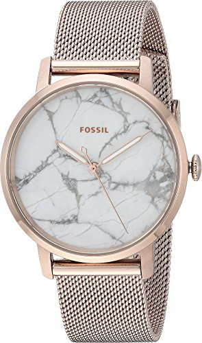 (Fossil Women's Neely Analog-Quartz Watch with Stainless-Steel Strap, Pink, 16 (Model: ES4404)