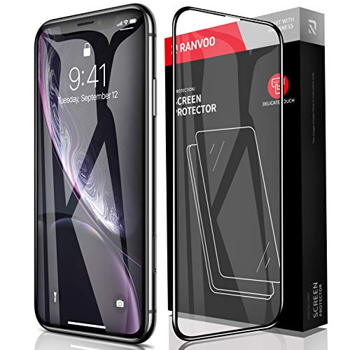 RANVOO iPhone XR Screen Protector 9H Tempered Glass [Shatter-Proof] HD Full Coverage [Anti-Scratch] [Anti-Fingerprint] 3D Touch 9H Glass Film Apple iPhone XR