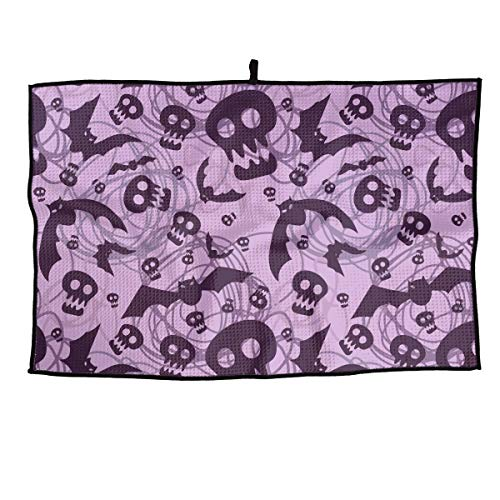 - SNMHILL Halloween Skull Bat Pattern Grid Cooling Portable Golf Towel Ice Sports Microfiber 23x14 Inches Travel Towel Chilly Player Towel