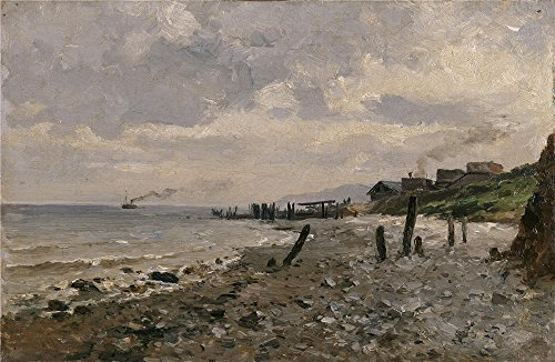 Oil Painting 'Haes Carlos De Costa De Villerville 1877 84', 20 x 31 inch / 51 x 78 cm , on High Definition HD canvas prints is for Gifts And - Eyeglasses Designer Nyc