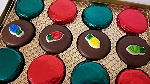 Chocolate Covered Oreo Cookies Christmas Holiday Set 12 Pieces