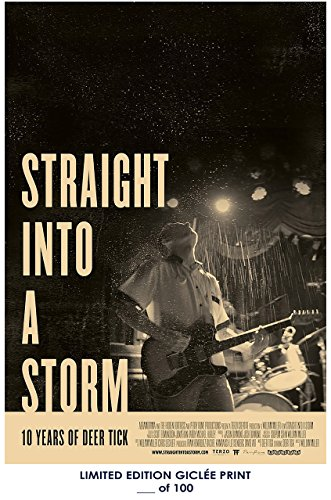 STER thick STRAIGHT INTO A STORM: 10 YEARS OF DEER TICK limited 2018 REPRINT #'d/100!! 12x18 ()