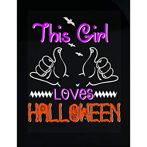 Peyton Winks This Girl Loves Halloween Scary - Transparent Sticker -