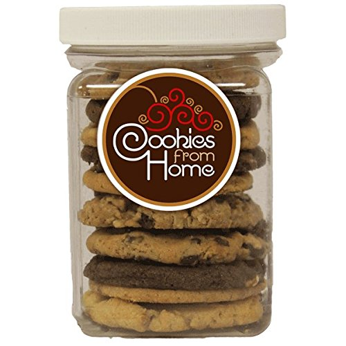 "Cookies From Home ""A Small Jar of Cookies or Brownies"" - Freshly Hand Baked Gourmet Brownies Gift Set -3 Brownies 