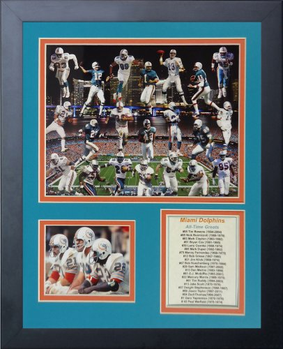 Miami Dolphins Framed Wall (Legends Never Die Miami Dolphins Greats Framed Photo Collage, 11x14-Inch)
