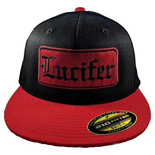 Garage Hat - Lucifer's Garage Lucifer Hat (L/XL (7 1/4-7 5/8), Red/Black/Red)