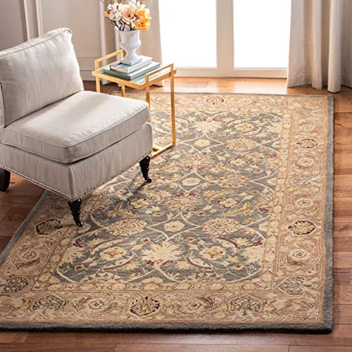 Safavieh Anatolia Collection AN549B Handmade Traditional Oriental Teal Blue and Taupe Wool Area Rug (8' x 10')