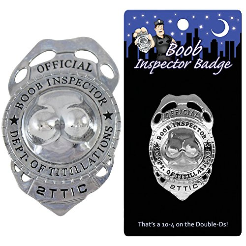 Official Boob Inspector Badge - Funny Novelty Police Badge Accessories