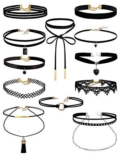 Uniqhia Leather Chain Necklace f...