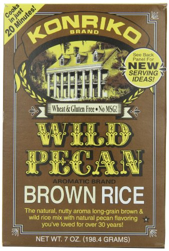 Konriko Wild Pecan Brown Rice, 7-Ounce Boxes (Pack of 12) by Konriko