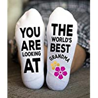 Best Grandma Socks Funny Loving Grandmother Life Gift One Size