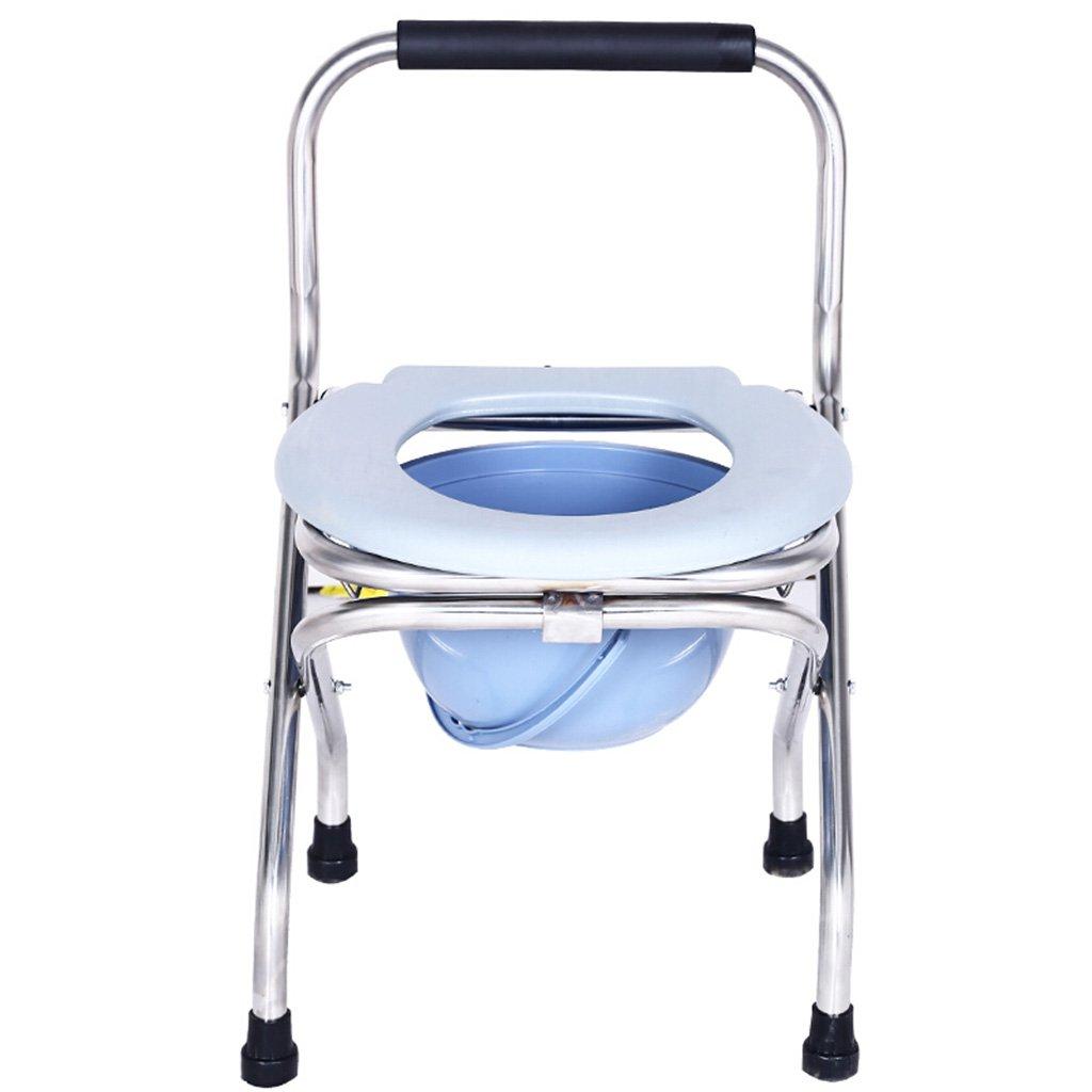 GRJH® シャワーチェア、折り畳み式ステンレススチールバスルームオールドマントイレチェア 防水,環境の快適さ B0799DD16R