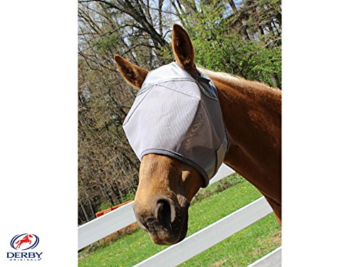 Derby Originals UV Protection Full Horse Fly Mask without Ears Grey Lot of 3 at Wholesale Price (Horse Mask Price)