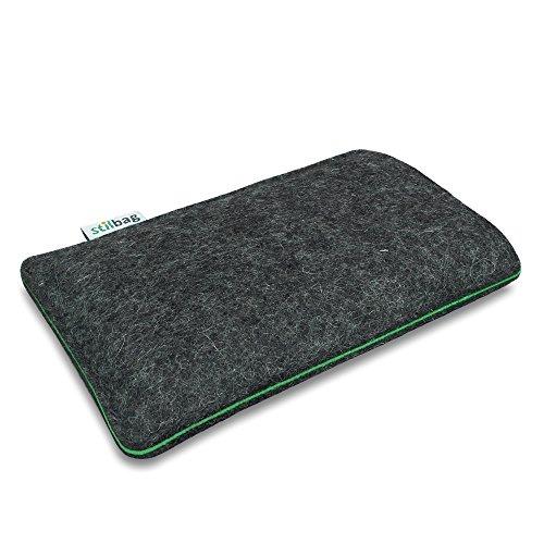 Stilbag Filztasche 'FINN' für Apple iPhone 5S - Farbe: anthrazit/mint