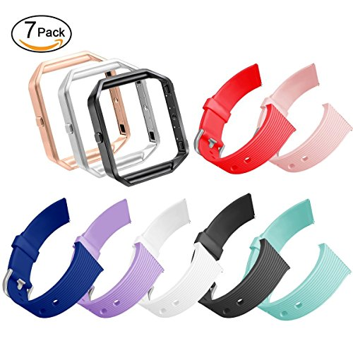 GHIJKL For Fitbit Blaze Slim Bands, TPU Replacement Sport Strap with Frame for Fitbit Blaze Smart Fitness Watch, Large Small