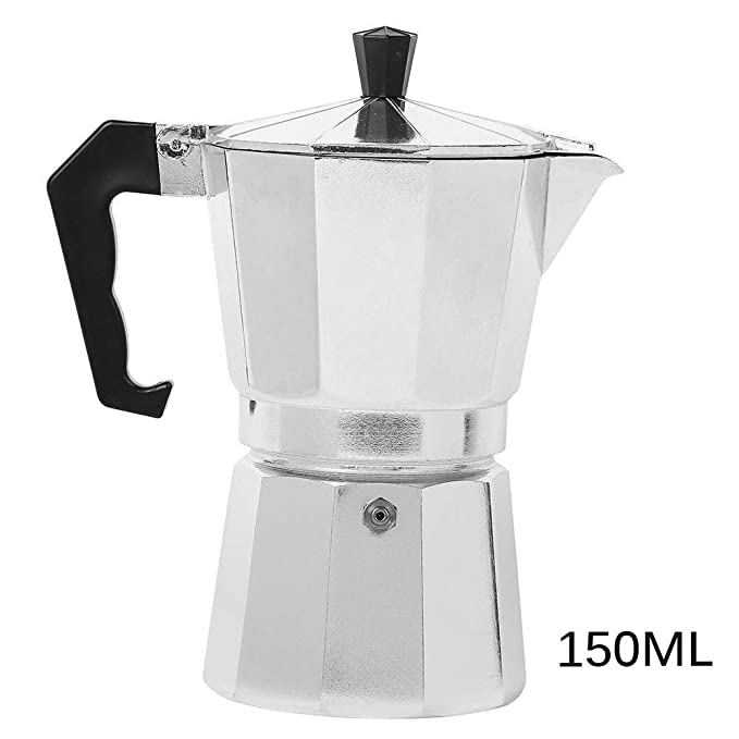 HITECHLIFE Cafetera Mocha de aluminio 1 taza / 3 tazas / 6 ...