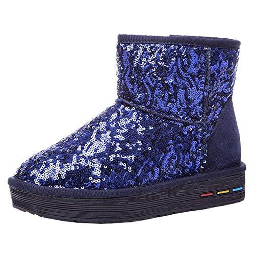 color Mujer Uk Azul Tamaño Botas De Para 3 Azul Nieve Moontang TwBXIxqT
