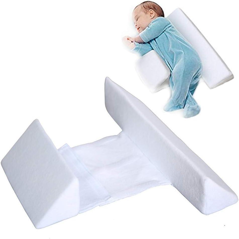 Almohada para bebé Almohada para dormir del lado del bebé Almohada en forma de cabeza Cabeza anti-mitral Almohada para bebé extraíble y lavable Leche anti-escupir