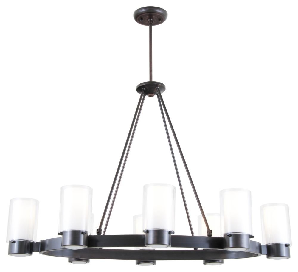 Dvi Lighting Dvp9028orb Op Chandelier With Opal Glass Shades Oil Rubbed Bronze Finish Chandeliers Canada