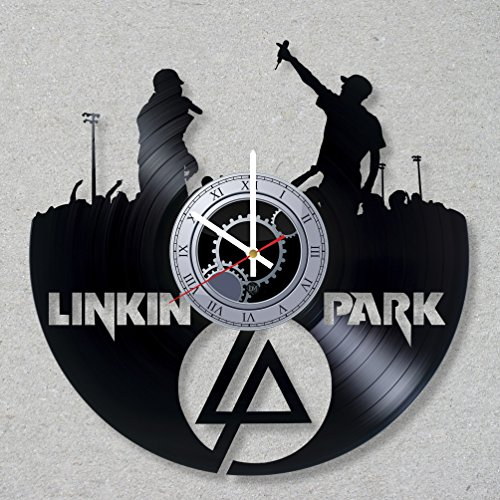 Clock Bennington (Vinyl Record Wall Clock Linkin Park Hybrid Theory Music Rock Bennington Numb Chester decor unique gift ideas for friends him her boys girls World Art Design)