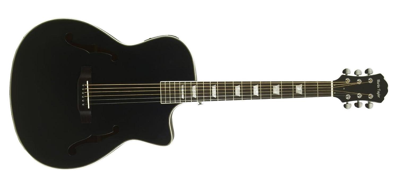 Guitarra eléctrica semiacústica Martin Taylor con cuerpo hueco de color negro mate satén y púas Fender: Amazon.es: Instrumentos musicales