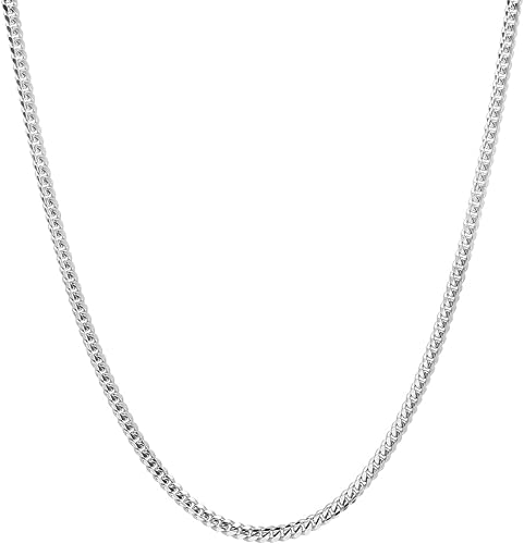 Sterling Silver Italian 2.5mm Solid  Miami Cuban Curb ITProLux Chain Necklace