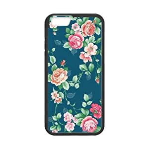 iPhone 6 Protective Case -Vintage Floral Hardshell Cell Phone Cover Case for New iPhone 6