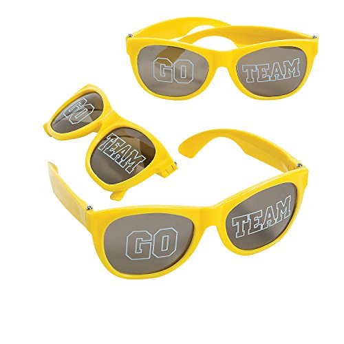 12 Pack Go Team Colors Glasses Fan Cheerleading Sunglasses (12 Pack - Sunglasses Team