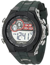 Men's 40/8188GRN Military Green Resin Digital Chronograph Watch