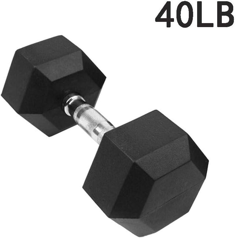 JINSHANSHAN Barbell Set of 2 Hex Rubber Dumbbell with Metal Handles Pair of 2 Heavy Dumbbells Choose Weight 5lb,10lb,20 Lb,30lb,50lb