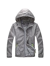 Panegy Unisex Windbreaker Waterproof Jacket Hoodie SkinCoat Reflective Quick Dry