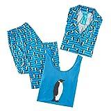 Women Pajamas Set 3 Pieces - Sleepwear Pajamas for Women, 3-PK in Set with Tank, Button Down & Pants, Navy Small