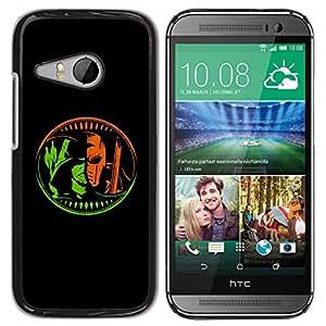 GOODTHINGS ( NO PARA HTC ONE M8 ) Funda Imagen Diseño Carcasa Tapa Trasera Negro Cover Skin Case para HTC ONE MINI 2 / M8 MINI - cómics carácter z héroe villano negro