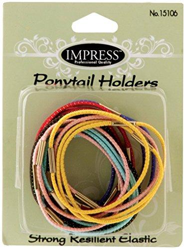 Impress 18-Piece Medium Elastic Ponytail Holders (144-Ct Case)(pack Of 144) from Impress