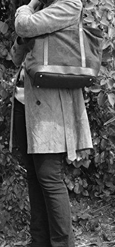 Borsa nubuck donna - Modello IRUPU - 46 x 32 x 18 cm (L x L x A)