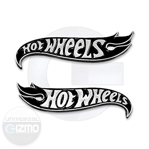 Chevy Camaro Hot Wheels LH & RH Fender Emblems - Black & Chrome ()