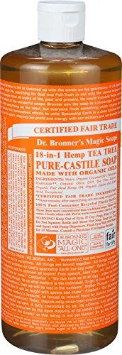 Price comparison product image Dr. Bronner s Pure Castile Soap - Fair Trade and Organic - Liquid - 18 in 1 Hemp - Tea Tree - 32 oz - 70%+ Organic -