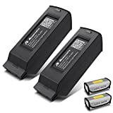 [Upgrade] Powerextra 2-Pack Typhoon H 6300 mAh 14.8V 93.2 Wh 4S LiPo Intelligent Flight Battery + Battery Safe Bag Replacement for Yuneec Typhoon H 4K Camera Drone - Black