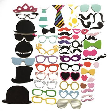 Easy Diy Halloween Costumes For Groups - 58Pcs/Set Photo Props Moustache Hat Eyes Lips Paper Beard Wedding Decoration Marriage Party Masquerade DIY Supplies Kit Products