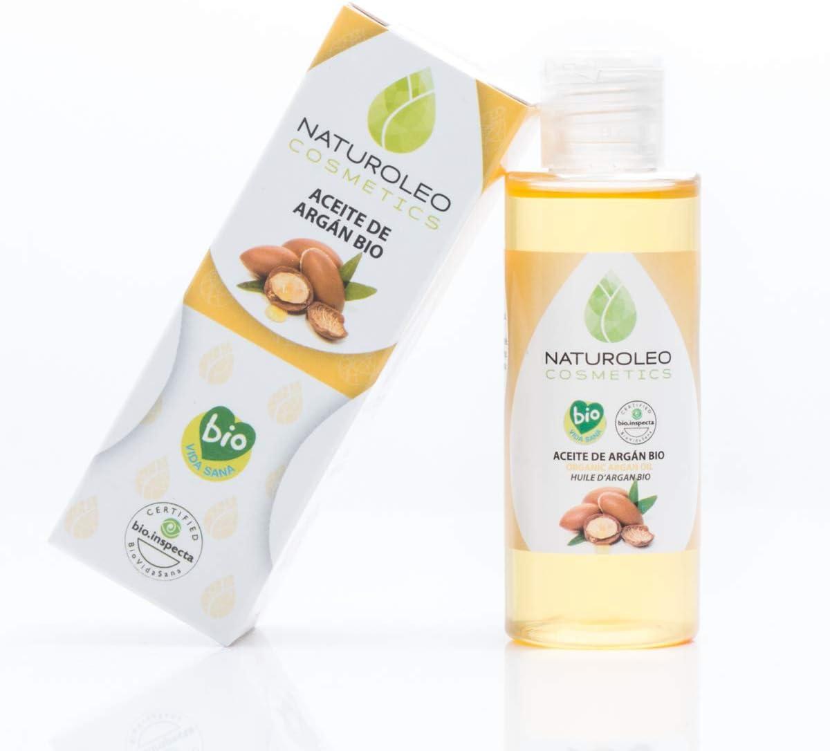 Naturoleo Cosmetics - Aceite Argán BIO - 100% Puro y Natural Ecológico Certificado - 50 ml
