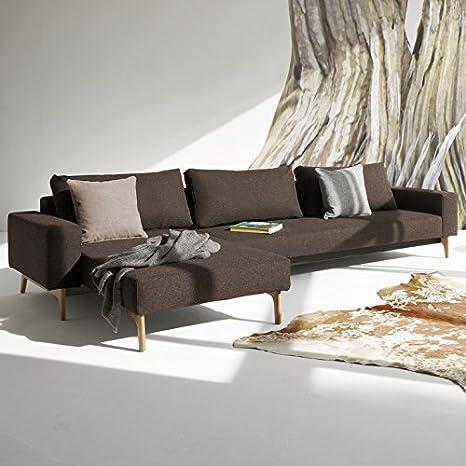 Innovación Dormir sofá con reposabrazos y Madera Patas Idun ...