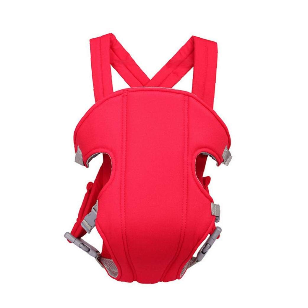 Baby Carrier Convenient Baby Wrap Carrier Outdoor Breathable Backpack Front and Back for Infants Toddlers Red
