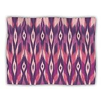 "Kess InHouse Amanda Lane ""Purple Ikat"" Pink Lavender Pet Blanket, 40 by 30-Inch"