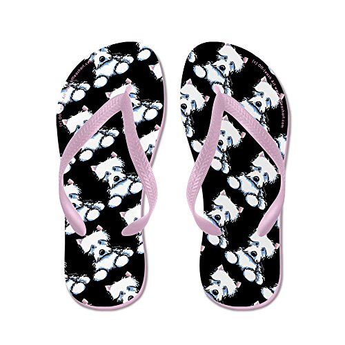 CafePress Lotsa Westies Black - Flip Flops, Funny Thong Sandals, Beach Sandals Pink