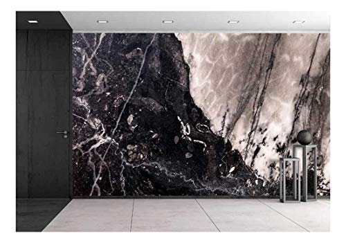 wall26 - Closeup Surface Marble Wall Texture Background - Removable Wall Mural | Self-Adhesive Large Wallpaper - 100x144 inches